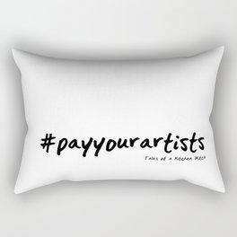 #payyourartists Rectangular Pillow