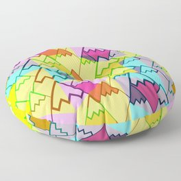 Colorful mountain tops Floor Pillow