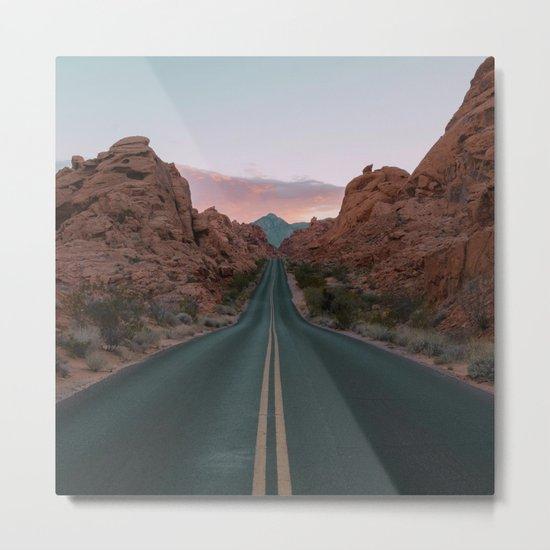 Desert Road Metal Print