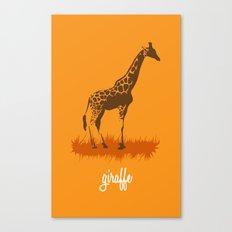 4-legged Exotica Series: Giraffe Canvas Print