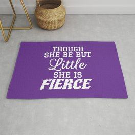 Little & Fierce (Purple) Rug