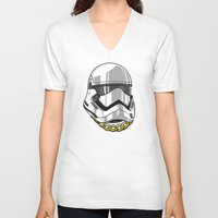 storm trooper V-neck T-shirts featuring Storm Trooper by KODYMASON