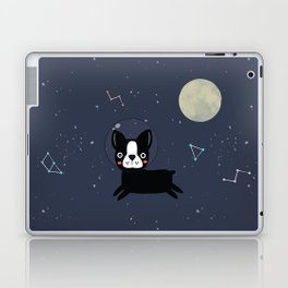Boston Terrier In Space Laptop & iPad Skin