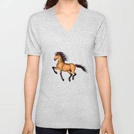 HORSES-Prairie dancer Unisex V-Neck