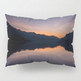 Sunrise over a mountain lake Pillow Sham