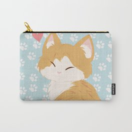 Orange Kitty Carry-All Pouch