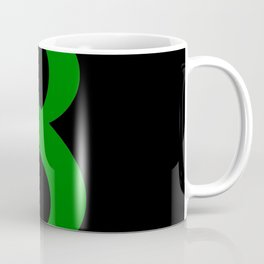 8 (GREEN & BLACK NUMBERS) Coffee Mug