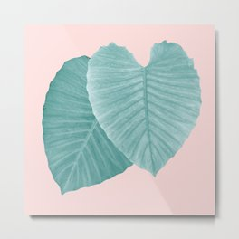 Love Leaves Evergreen Blush - Him & Her #2 #decor #art #society6 Metal Print
