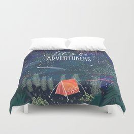 Let´s be adventurers Duvet Cover