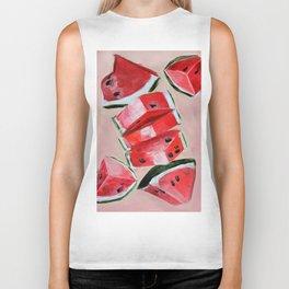Fruit, watermelon, summer Biker Tank