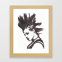 punk rocker girl Framed Art Print