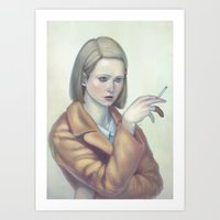 tenenbaum Art Prints featuring Margot Tenenbaum by Lek Chan