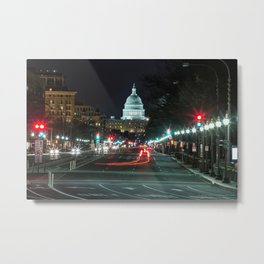 DC At Night Metal Print