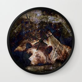 Long Winters Nap (with Star Sparkle) Wall Clock