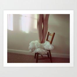 Cloud girl Art Print