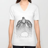 falcon V-neck T-shirts featuring Falcon by Julia Kisselmann