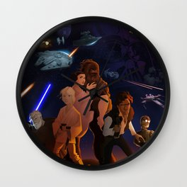 I grew up with a new hope Wall Clock
