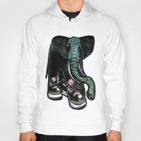 sneaker Hoodies featuring SNEAKER ELEPHANT by Juan Diaz