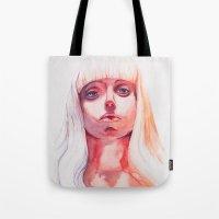 artpop Tote Bags featuring ARTPOP by Maria Bruggeman