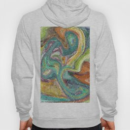 Turquoise, Copper, Gold, Green, Mosaic Design Hoody