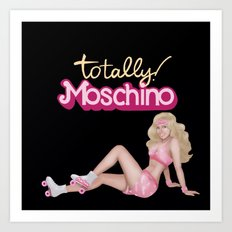 MOSCHINO SKATER BARBIE Art Print