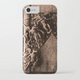 Cave Canem - Wall of Skulls (sepia) iPhone Case