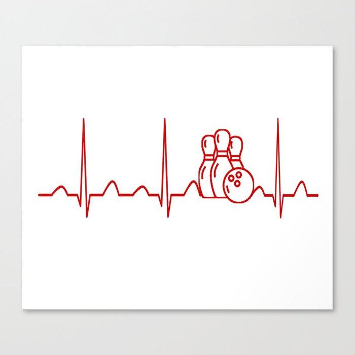 BOWLING HEARTBEAT Canvas Print