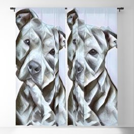 Pit Bull lover, a portrait of a beautiful pit bull puppy Blackout Curtain