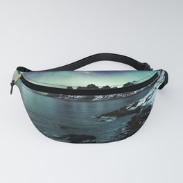 Norway Photography - Beautiful Northern Lights Over A Lake Fanny Pack