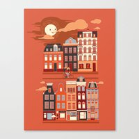 amsterdam Canvas Prints featuring Amsterdam! by Marco Angeles