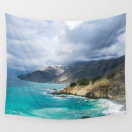 Parting Clouds in Big Sur Wall Tapestry
