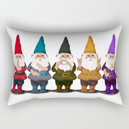 Hangin with my Gnomies - The line up Rectangular Pillow