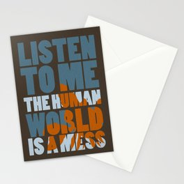 Is a mess Stationery Cards