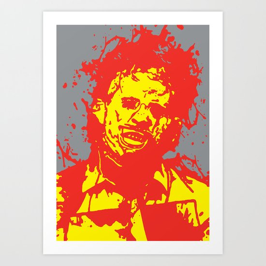 August 18, 1973: Bloodstain Leatherface (color combination I) Art Print
