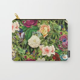 Vintage Floral Garden Carry-All Pouch