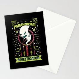 Paranormal Investigator Shirt ghost hunter gift Stationery Cards