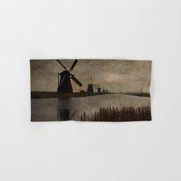 Windmills at Kinderdijk Holland Hand & Bath Towel