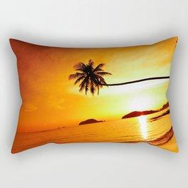 Lone Palm Sunset Rectangular Pillow