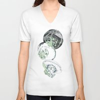 jelly fish V-neck T-shirts featuring Jelly Fish by Eleanor V R Smith