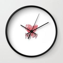 Happy Hearts Day Wall Clock