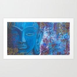 Buddha in Blue Art Print