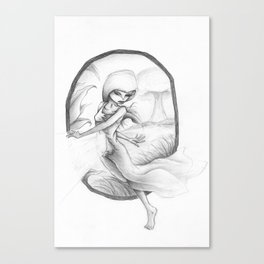 SLIPPING AWAY. Canvas Print