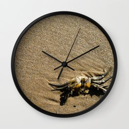 Crab in the Sand Wall Clock