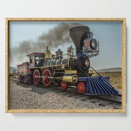 Central Pacific Railroad Jupiter at Golden Spike National Historic Site Utah Transcontinental Serving Tray