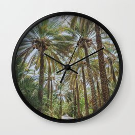 Date Palm Trees in Oman #1 Wall Clock