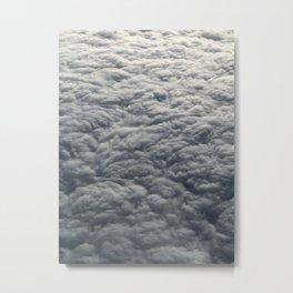 Blanket of fluffy grey clouds Metal Print