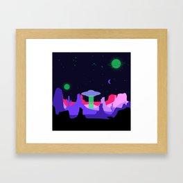 Hello ufo Framed Art Print