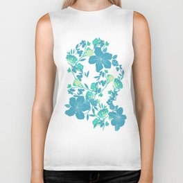 Botanical Blues Biker Tank