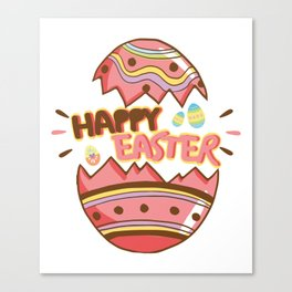 Easter Egg Hunt Happy Easter Cute Kids Women Men Gifts Canvas Print