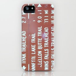 Trail Miles iPhone Case